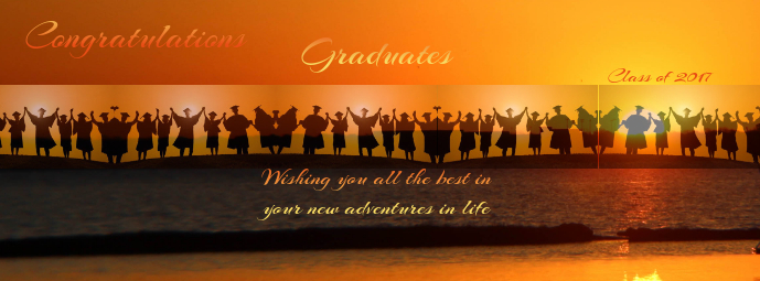 class of 2017 facebook banner template postermywall