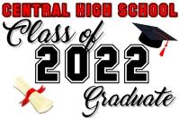 Class of 2020 Graduate Cartaz template