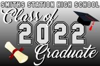 Class of 2020 Graduate Плакат template
