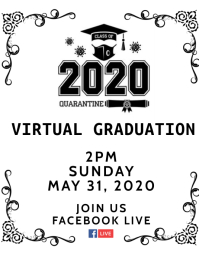 Class of 2020 Virtual Graduation Ceremony Flyer (US Letter) template
