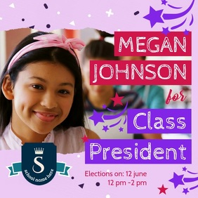 Class President Election Video Template