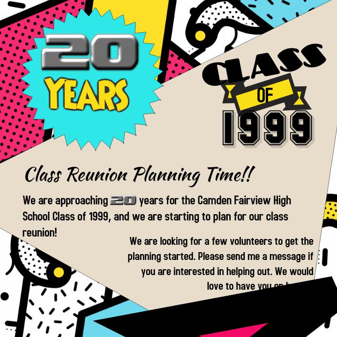 CLASS REUNION Pos Instagram template