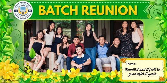 Class Reunion Spanduk Gulir Atas 3' × 6' template