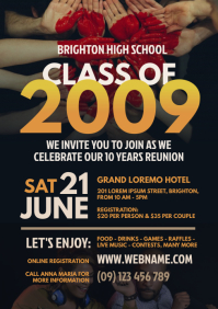 Class Reunion Flyer A4 template