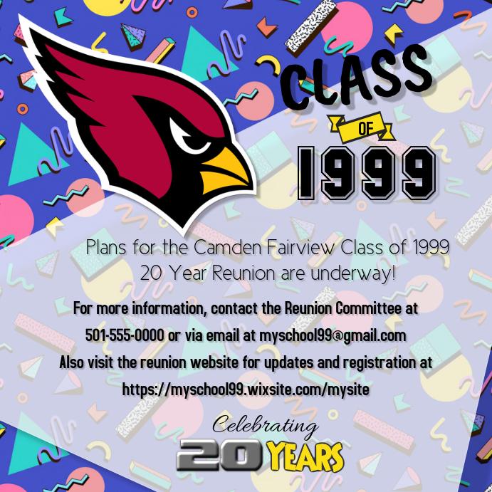 Class Reunion Flyer Template Postermywall
