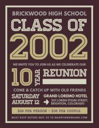 Class Reunion Flyer template