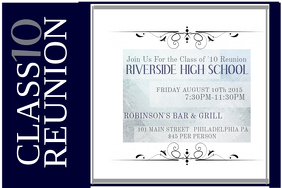Wonderful Class Reunion. HIGH SCHOOL REUNION FLYER In Class Reunion Invitation Template