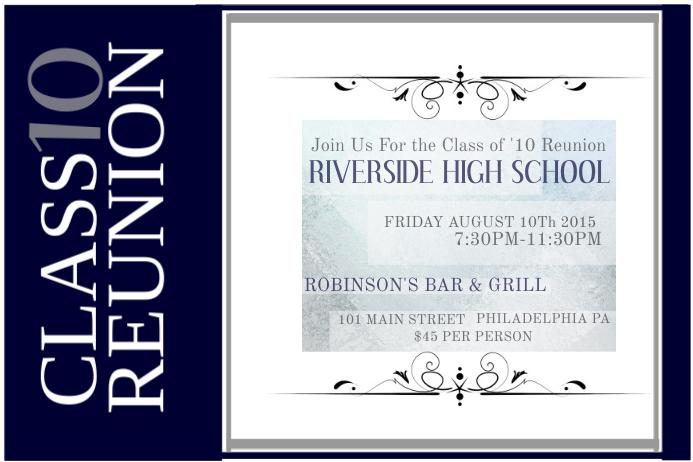 Class Reunion Poster template
