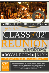 Class Reunion  Class Reunion Invitation Template