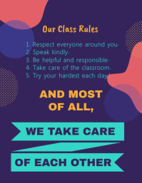 Class Rules and Procedures Square Image Template