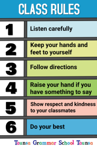 Class Rules Poster template