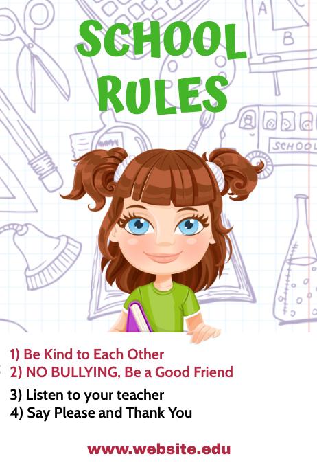 Class Rules Cartaz template