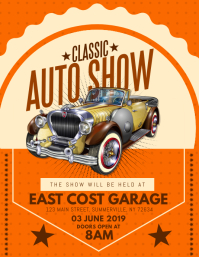 Classic Auto Show Flyer template