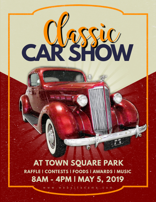 Classic Car Show Flyer Kirmiyellowriverwebsitescom - Car show flyer template word
