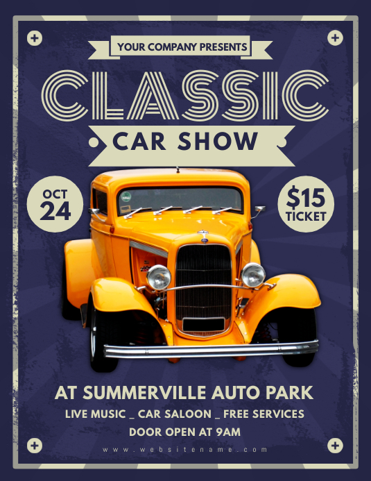 Customizable Design Templates For Car Show Event  Postermywall