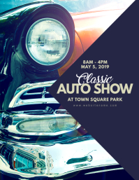 Customizable Design Templates For Car Show Event PosterMyWall - Classic car show poster template