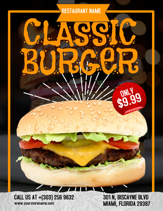 Classic Burger Flyer