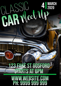 classic car meet up A5 template