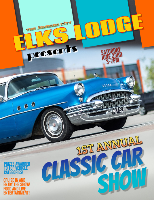 Classic Car Show Cruise In flyer template Pamflet (VSA Brief)