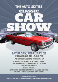 Classic Car Show Flyer A4 template