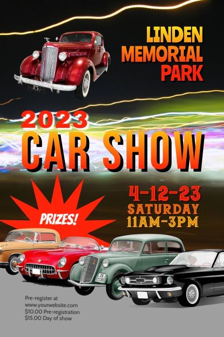 classic car show flyer poster template Plakkaat