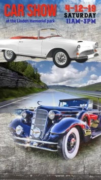 classic car show flyer video template Digital Display (9:16)