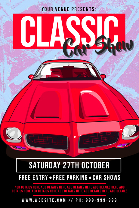 Classic Car Show Poster