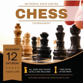 Classic Chess Tournament Square Video