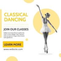 classic classical dancing classes Instagram-opslag template