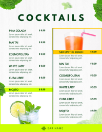 Classic Cocktail Menu Template