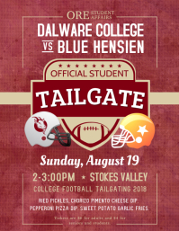 Classic College Football Tailgate Flyer template