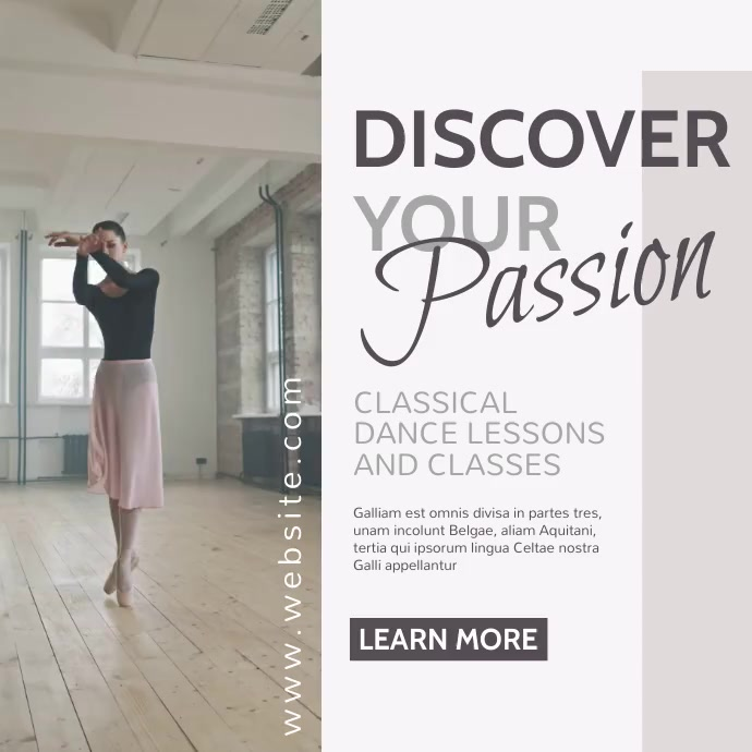 classic dance classical dance instagram post template