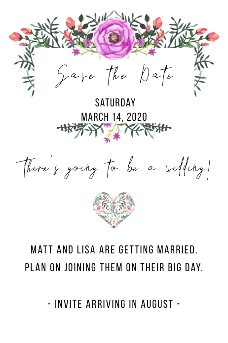 Classic Floral Save the Date