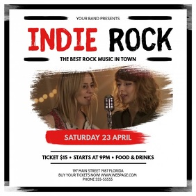 Classic Indie Rock Concert Square Video