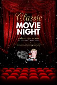 Classic Movie Night Cinema Flyer Template