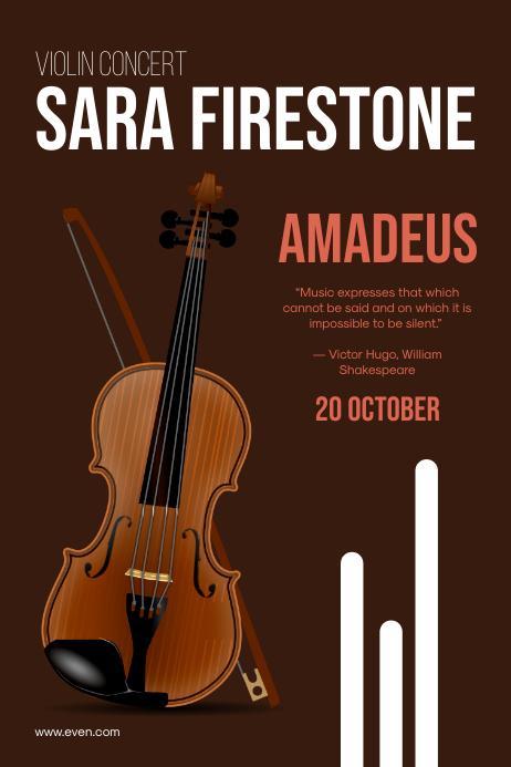 Classic Music Event Poster โปสเตอร์ template