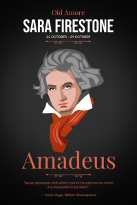 Classic Music Event Poster Póster template