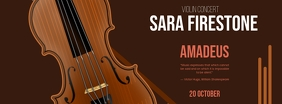 Classic Music Event Poster Фотография обложки профиля Facebook template