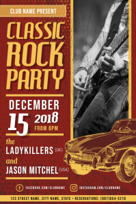 Classic Rock Party Poster Template