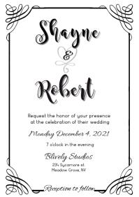 CLASSIC WEDDING INVITE swirl