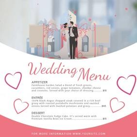 Classic Wedding Menu Square Video