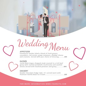 Classic Wedding Menu Square Video