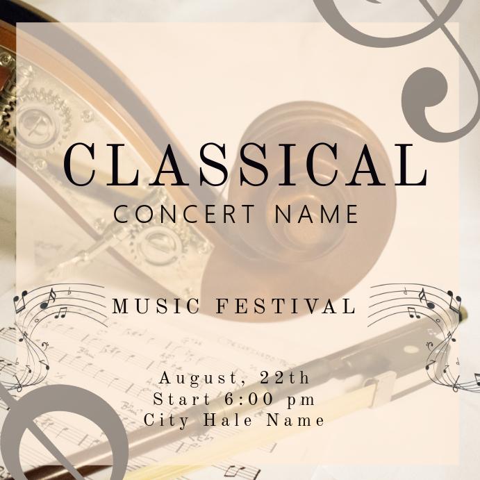 Classical Concert Instagram Template