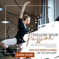 classical dance lessons and classes Instagram Post template