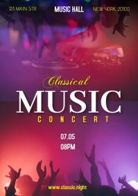Classical music concert A4 template