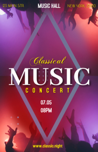 Classical music concert Tabloid template