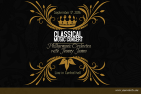 Classical Music Concert Gold Poster