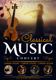 CLASSICAL MUSIC CONCERT POSTER A4 template