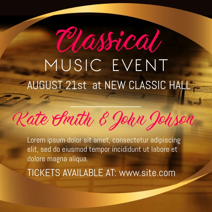 Classical Music Event Instagram Video Template