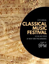 Lovely Classical Music Festival Flyer